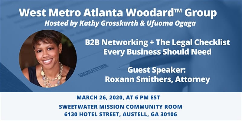Learn and network with Atlanta's top small business attorney.